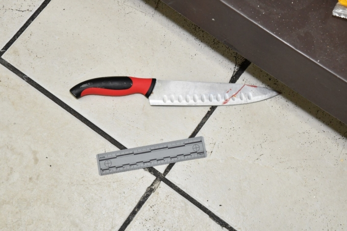 Figure 2 - The knife that was found inside Sam's Convenience Store.