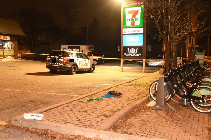 Figure 1 - The scene of the shooting in Etobicoke.