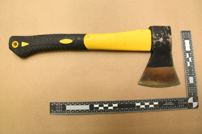 Figure 3 – A clearer picture of the hatchet.