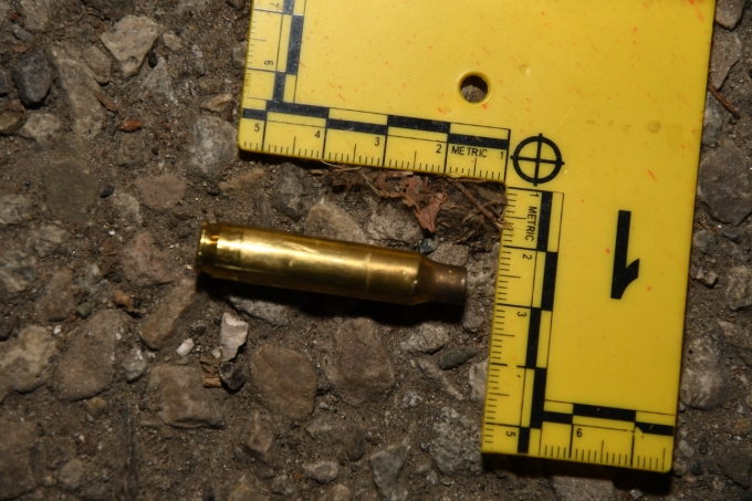Figure 4 - The cartridge case found at the scene.