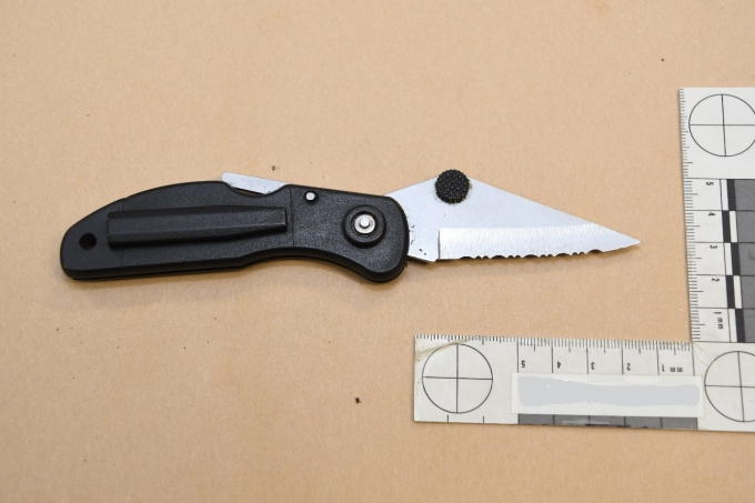 Figure 4 – The Complainant's knife